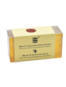 Olive oil soap with pure rosemary oil from Brač 100 g