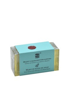 Olive oil soap with pure mentha oil from Mjet 100 g