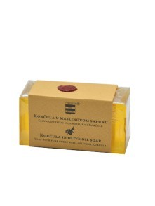 Olive oil soap with pure basil oil from Korčula 100 g