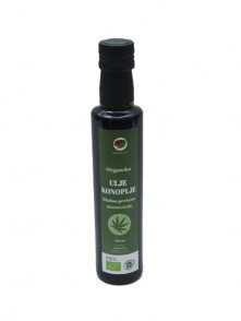 Hemp oil, organic cold pressed BIO 250 ml Organica Vita